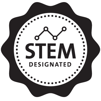 STEM designation stamp for data science programs utilizing science, technology, engineering and mathematics.