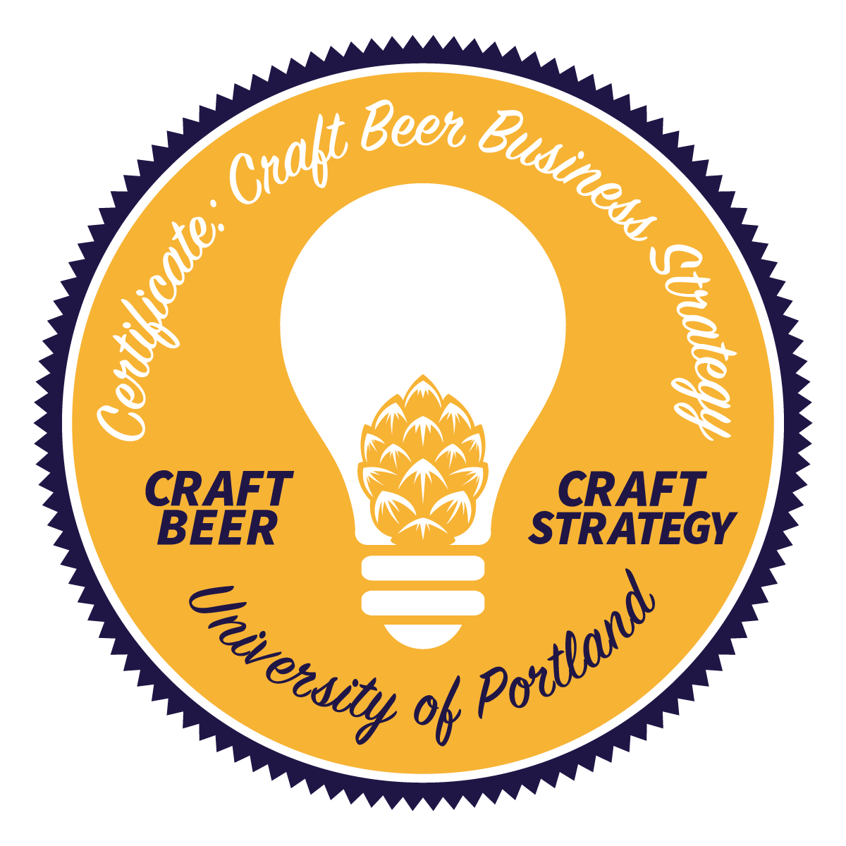 craft beer business completed course certificate seal