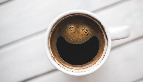 A smiling cup of coffee