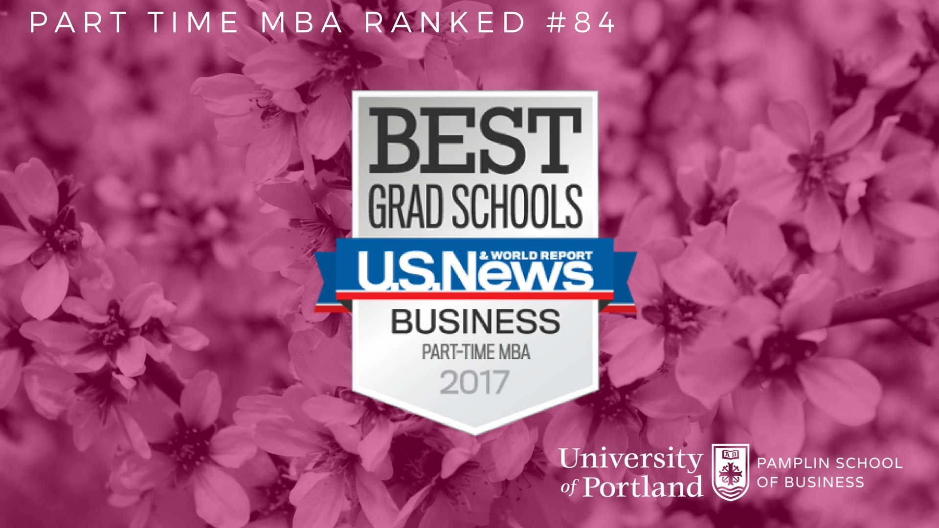 Best part time MBA program in Oregon and 84th in the nation.