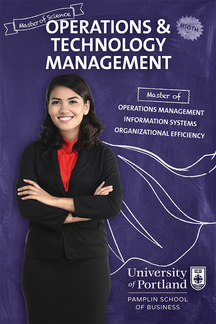 Master of Operations and Technology Management poster for Choose What You Master Campaign
