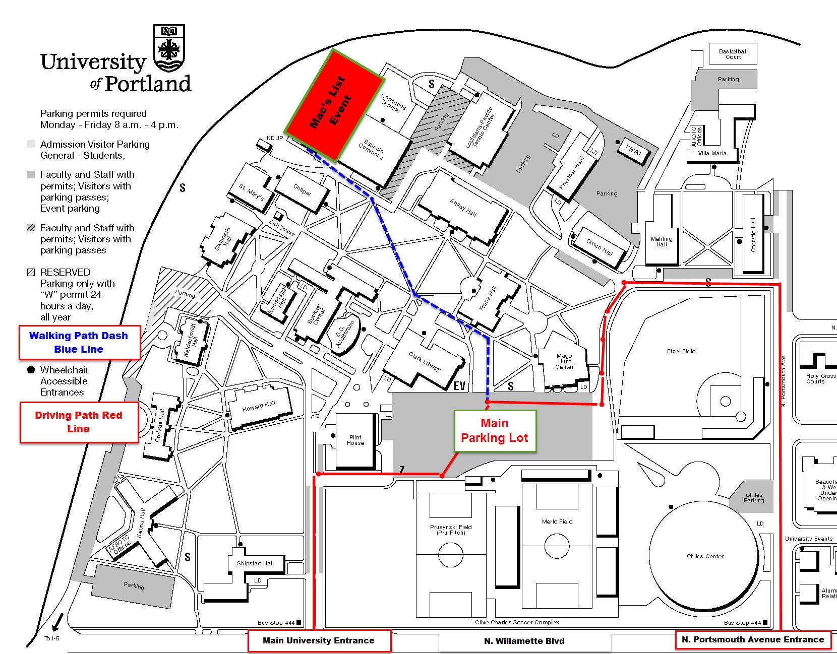 University Of Portland Map | Helderateliers