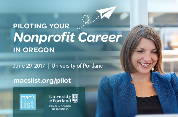Piloting a Nonprofit career event March 16 held by Mac's List at the University of Portland.