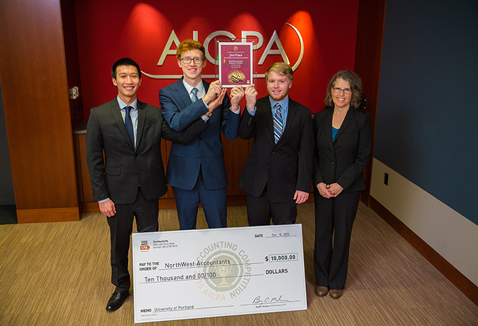 Students in the Accounting win 2nd place in national American Institute of CPA Competition